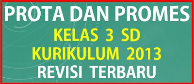 Prota dan Promes Kelas 3 SD Kurikulum 2013 Revisi Terbaru