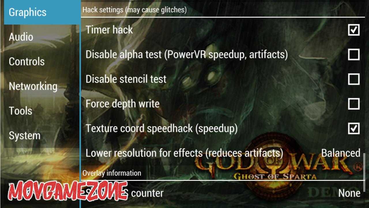 god of war ppsspp settings