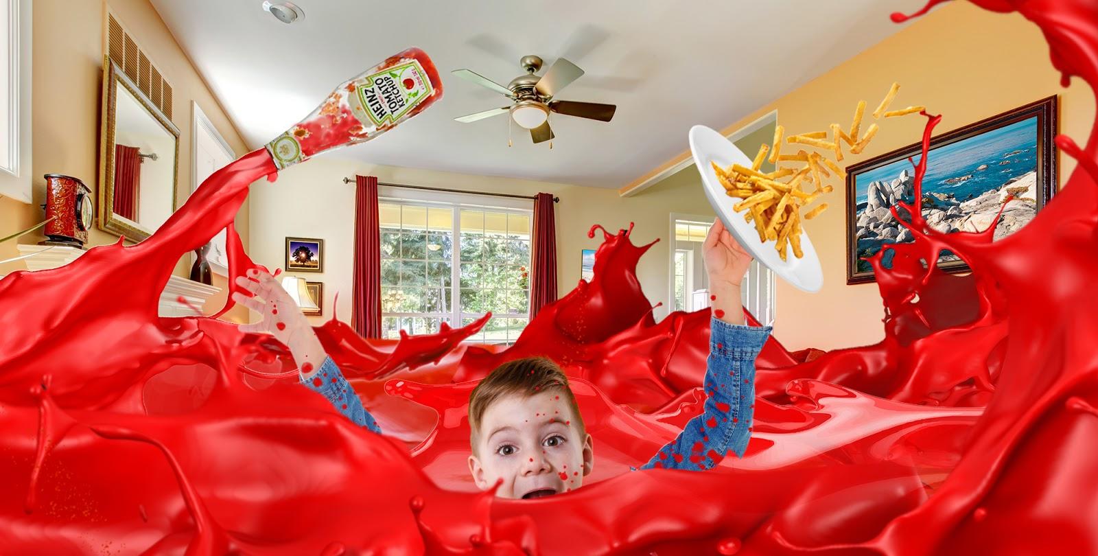 Nachdem erst ewig nix aus der Flasche kam: Kind (9) ertrinkt beinahe in Ketchup-Tsunami