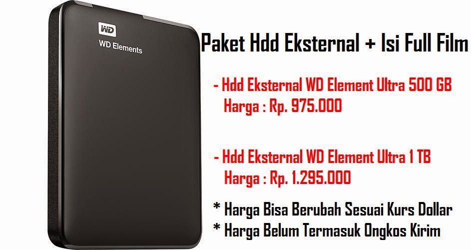 Paket New HDD + Isi Full Film
