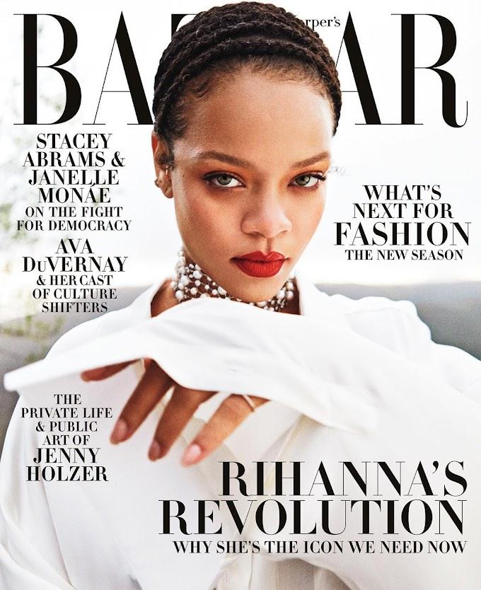 Rihanna Is Harper Barzaar's September Issue Cover Girl.