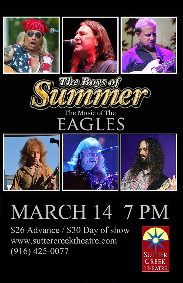 Sutter Creek Theater: Boys of Summer – The Music of the Eagles - Sat Mar 14