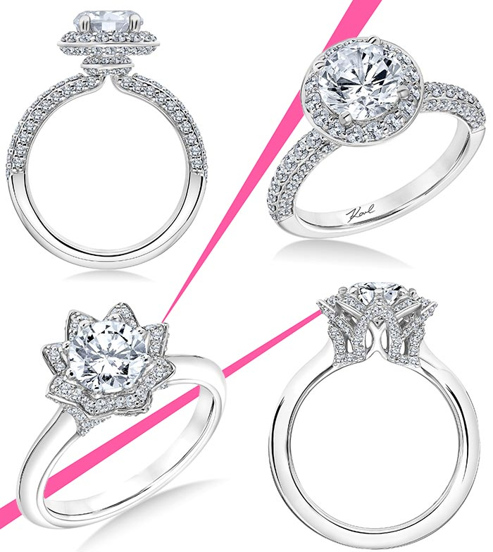 Karl Lagerfeld Engagement Ring Collection