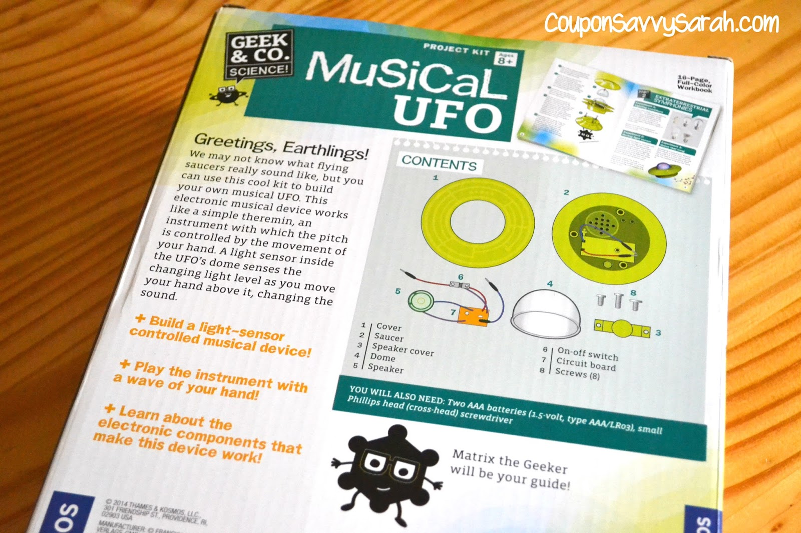 Coupon Savvy Sarah Thames And Kosmos Musical Ufo Build Your Own Simple Theremin Disclosure Receives Products In Order To Conduct Reviews No Monetary Compensation Was Provided Unless Noted Otherwise