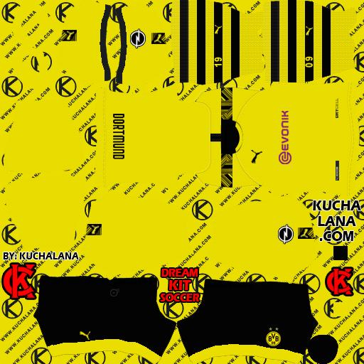 Borussia Dortmund 2019 2020 Kit Dls20 Kits Kuchalana