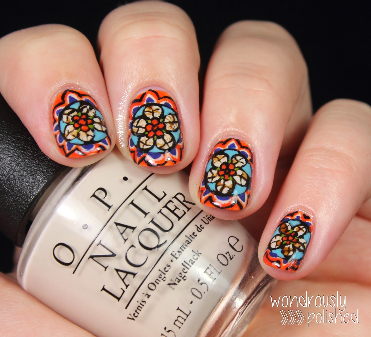 Stained Glass Nail Art: Wondrously Polished: 31 Day Nail Art Challenge