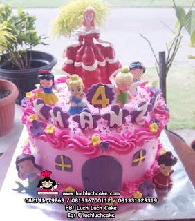 Kue Tart Ulang Tahun Princess Disney Untuk Anak
