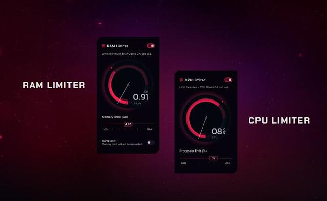 Opera GX RAM & CPU Limiter