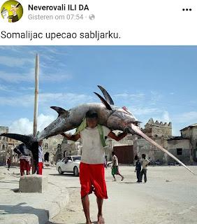 Somalijac upecao ribu sabljarku