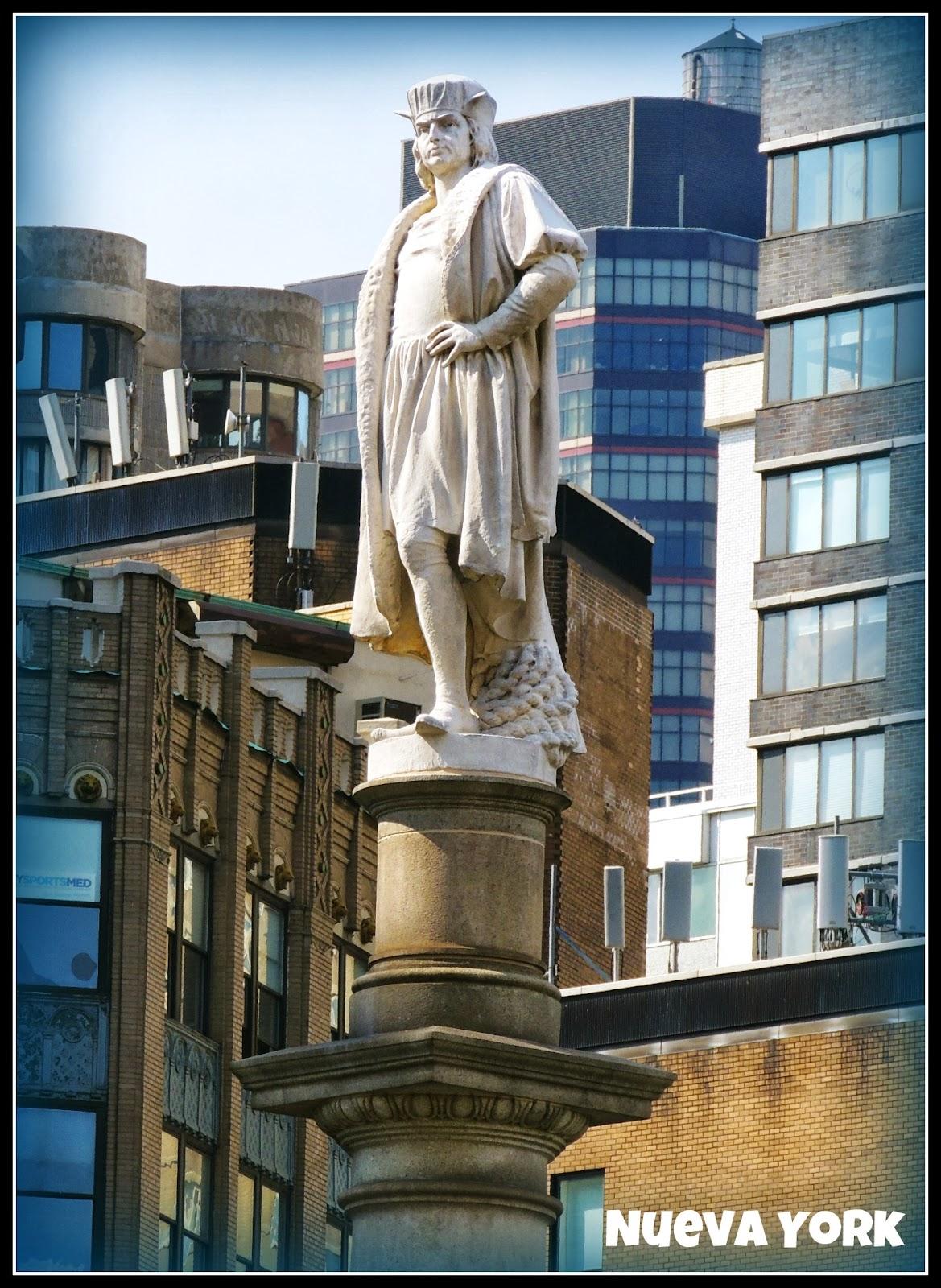 Estatua de Cristobal Colón en Nueva York