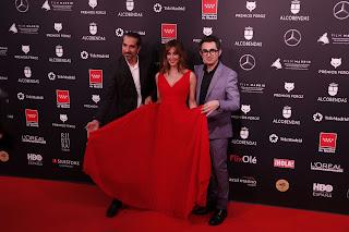 Javier Ruiz Caldera, Eva Ugarte y Berto Romero en los Premios Feroz 2020