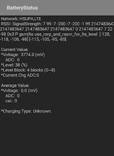Battery status of Samsung A50