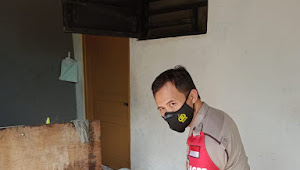 Silaturahmi ke Warga Binaan, Binmas Polsek Baleendah Polresta Bandung Bagikan Masker