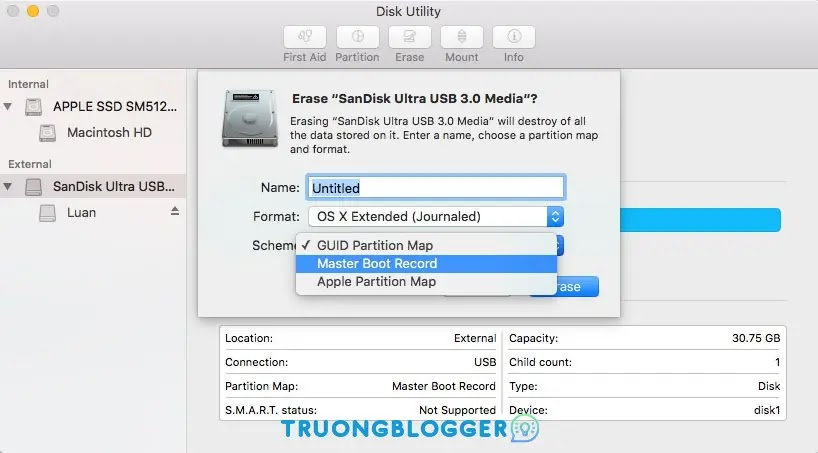 Hướng dẫn Format USB trên MacBook đơn giản nhất