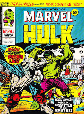 Mighty World of Marvel #194, Hulk vs the Missing Link