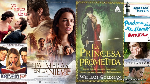ideas de libros y películas románticas