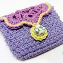 Bolsito para marcadores a Crochet