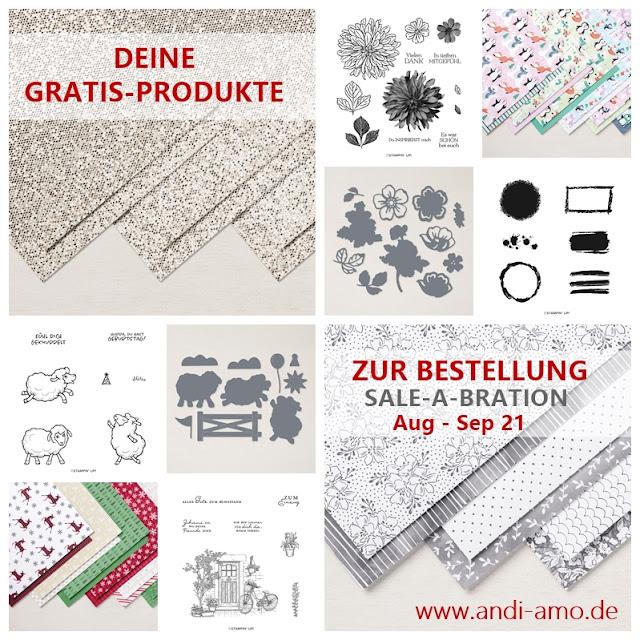 Stampin Up Gratis-Produkte zur Sale-A-Bration 2021