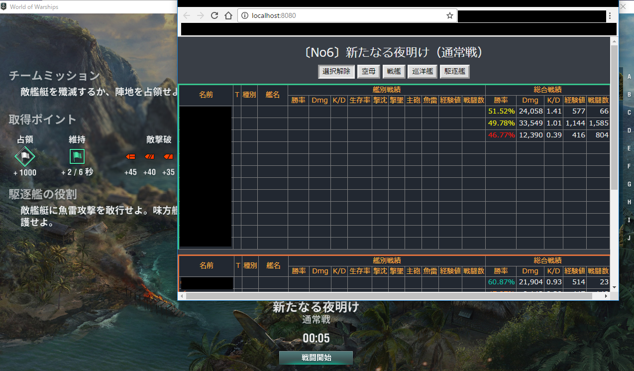 wows stats 導入