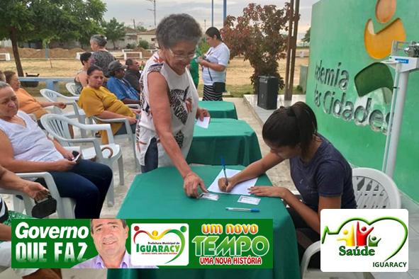 Secretaria de Saúde realiza encontro de prevenção e cuidado com Diabetes e Hipertensão em Iguaracy
