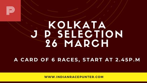 Kolkata Jackpot Selections 26 March