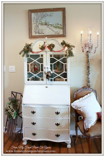 Vintage Secretary- Crewel-A Merry little Christmas- From My Front Porch To Yours