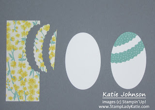 Punch art card for Easter using Oval Dies to make the Eggs.