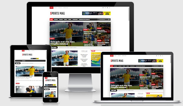 Sport Mag Responsive Blogger Template
