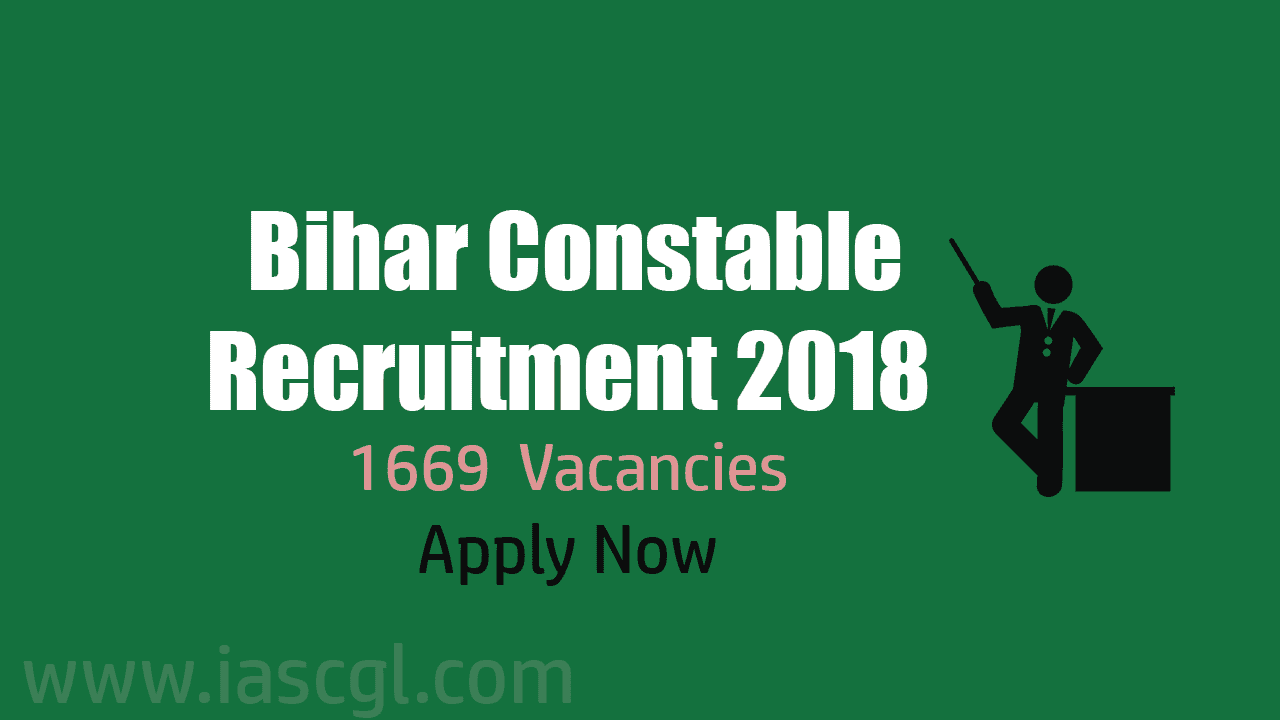 Bihar Constable Recruitment 2018