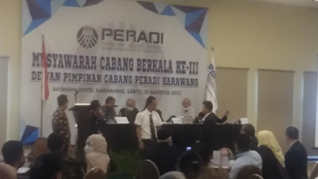 Aklamasi,  Askun Terpilih Jadi Ketua DPC PERADI Karawang