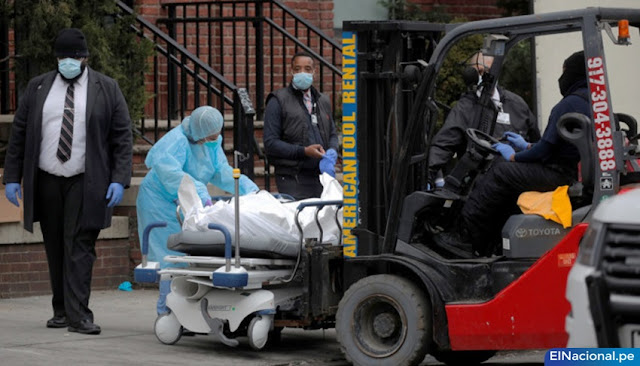 Muertes diarias por coronavirus en EEUU