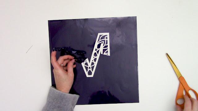 stencil, reverse canvas, cameo 4, mandala monogram, silhouette project