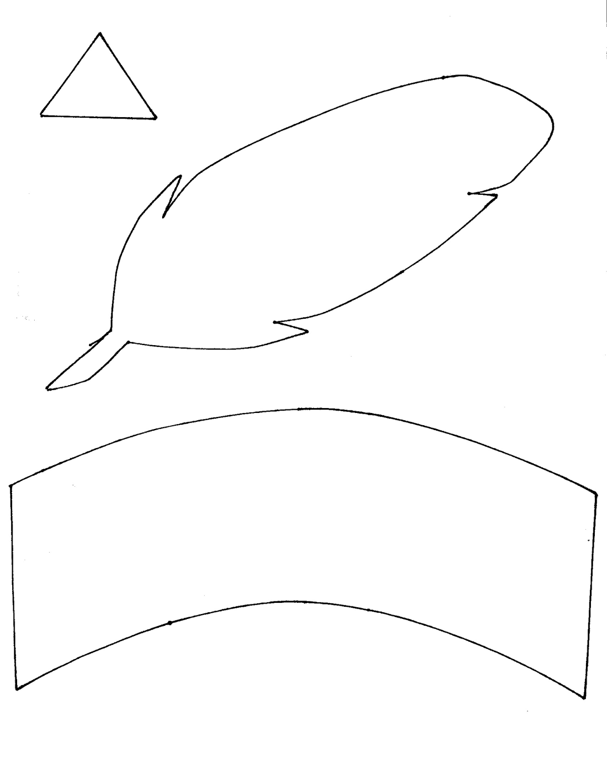 Indian And Pilgrim Hats Template