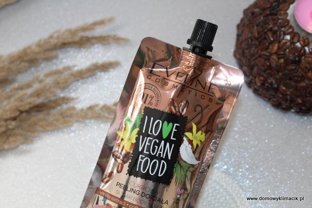 Cukrowy peeling do ciała - I LOVE VEGAN FOOD - Vanilla extract, coffee, coconut milk