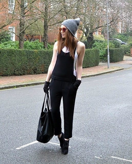 a10f49b78ac Dungarees- Zara. Vest- Zara. Hat- Topshop