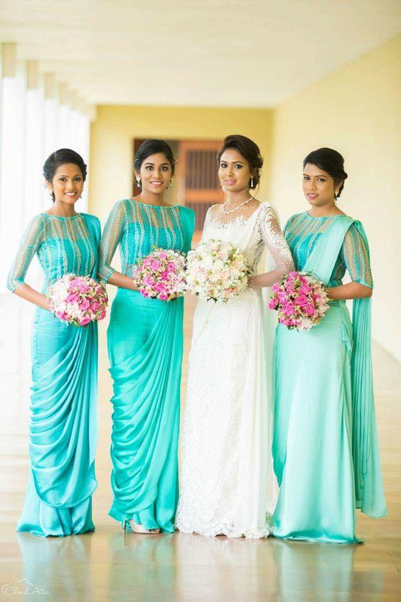 Sparkling Fashion Bridesmaid Sarees Inspirational Collection