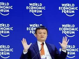 Jack Ma addressing annual meeting of WEF