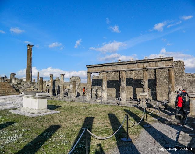 Templo de Apolo no Fórum de Pompeia
