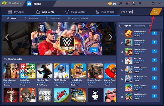 لعبة Free Fire على الكمبيوتر محاكي