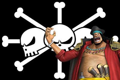 Umumnya bentuk Jolly Roger sebuah kelompok bajak maritim dalam dunia one piece merepresentas BUAH IBLIS KETIGA YANG DIINCAR KUROHIGE