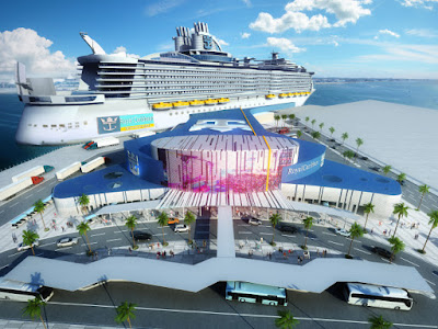 Artists Rendering of Royal Caribbean's New Cruise Terminal in Galveston Texas