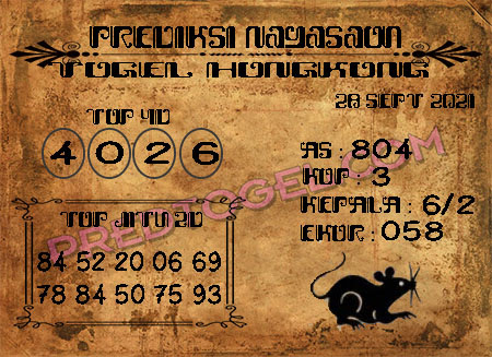 Nagasaon HK Selasa 28 September 2021 -