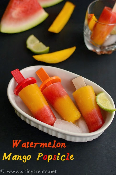 Melon Mango Popsicles