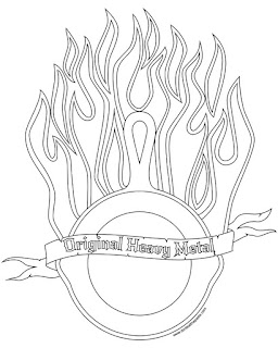 Original Heavy Metal cast iron coloring page in jpg and transparent png format