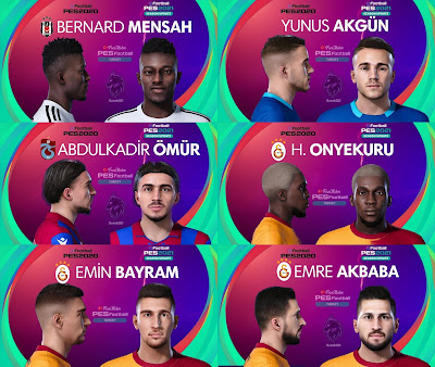 PES 2021 Turkey Süper Lig Facepack 4 by PES Football Turkey