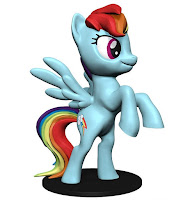 My Little Pony WizKids Deep Cut Miniature Rainbow Dash