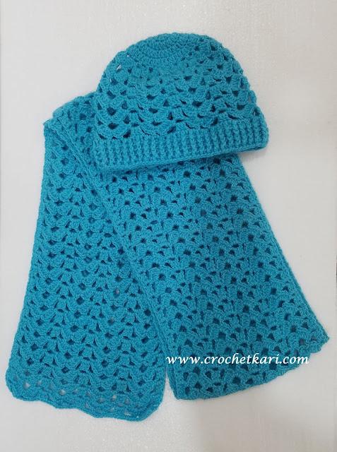 crochet brooke scarf free pattern