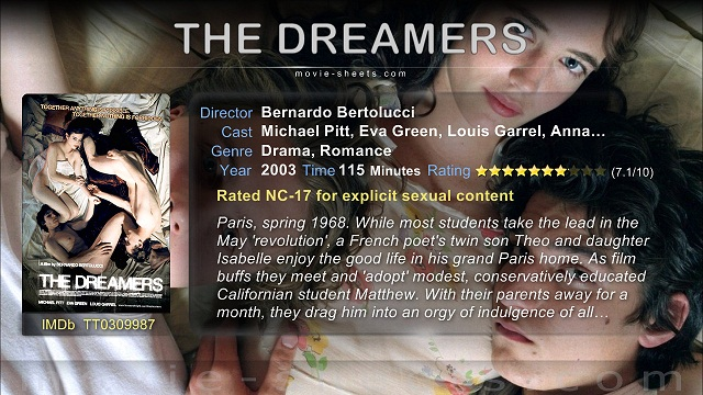 The Dreamers 2003 720p Bluray Download