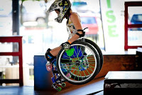 Worldwide Theater Protest, Wheelchair Athlete Ella French