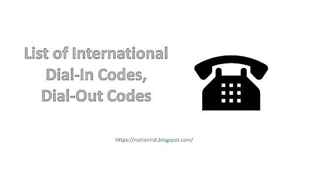 International Calling Codes